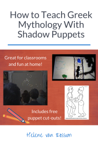 Are you teaching Greek mythology? Let your students engage with learning in a new way using shadow puppetry. Save this pin and check out the article to learn how to use shadow puppetry to teach Greek mythology. Free downloads and cut-outs included!