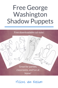 Fantastic free PDF downloads of Revolutionary War shadow puppets.
