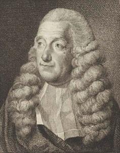 Joachim Rendorp met burgemeesterspruik (gravure Reinier Vinkeles).