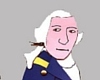 George Washington shadow puppet