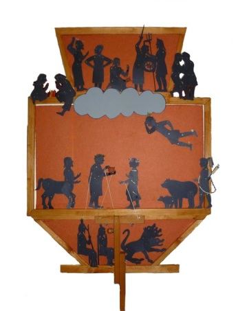 Shadow puppetry screen