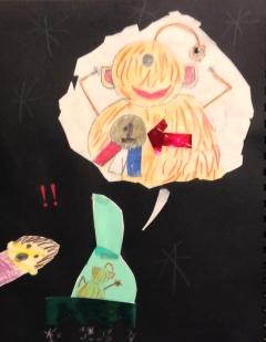 Kinderillustratie met moeder alien en een medaille met het nummer 1
